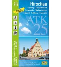 Wanderkarten Bayern Bayerische ATK25-F13, Hirschau 1:25.000 Bayerisches Landesamt für Digitalisierung, Breitband und Vermessung