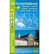 Wanderkarten Bayern Bayerische ATK25-N10, Fürstenfeldbruck 1:25.000 Bayerisches Landesamt für Digitalisierung, Breitband und Vermessung