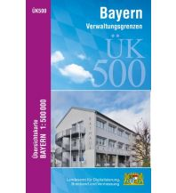 ÜK500 Amtliche Übersichtskarte von Bayern 1:500.000 Bayerisches Landesamt für Digitalisierung, Breitband und Vermessung