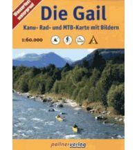 Radkarten Die Gail - Kanu-, Rad- und MTB-Karte mit Bildern Verlag Max Pollner