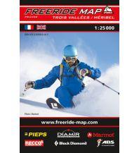 Wintersport Freeride Map Les Trois Vallées - Méribel / Courchevel outkomm gmbh