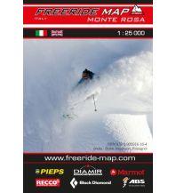 Skitourenkarten Freeride Map Monte Rosa 1:25.000 outkomm gmbh
