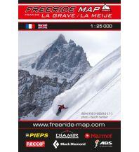 Skitourenkarten Freeride Map La Grave, La Meije 1:25.000 outkomm gmbh