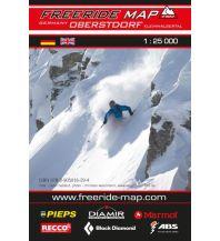 Skitourenkarten Freeride Map Oberstdorf, Kleinwalsertal 1:25.000 outkomm gmbh