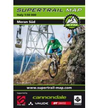 Mountainbike-Touren - Mountainbikekarten Supertrail Map Meran Süd 1:50.000 outkomm gmbh