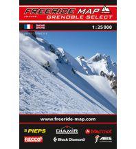Skitourenkarten Freeride Map Grenoble outkomm gmbh