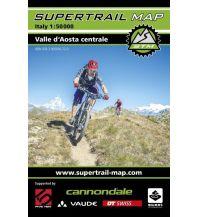 Mountainbike-Touren - Mountainbikekarten Supertrail Map Valle d'Aosta Centrale/Mittleres Aostatal 1:50.000 outkomm gmbh