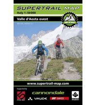 Radkarten Supertrail Map Valle d'Aosta Ovest/Westliches Aostatal 1:50.000 outkomm gmbh