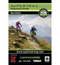 Radkarten Supertrail Map Schweiz - Bas-Valais / Unterwallis 1:50.000 outkomm gmbh