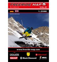 Skitourenkarten Freeride Map Vals 1:25.000 outkomm gmbh