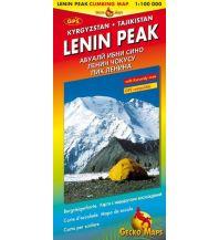 Wanderkarten Asien Bergsteigerkarte Lenin Peak 1:100.000 Gecko Maps