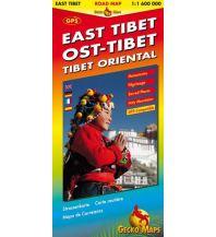 Straßenkarten Ost-Tibet Strassenkarte 1:1 600 000 Gecko Maps