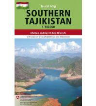 Straßenkarten Asien Southern Tajikistan Gecko Maps