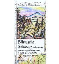 Wanderkarten Böhm-Wanderkarte Tschechien - Böhmische Schweiz 1:40.000 Kartographischer Verlag Böhm
