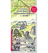 Wanderkarten Böhm-Wanderkarte Deutschland Außeralpin - Große Karte der Sächsischen Schweiz - wasserfest 1:30.000 Kartographischer Verlag Böhm