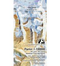 Wanderkarten Böhm-Trekkingkarte Kirgisien / Tadschikistan - Pamir 1:100.000 Kartographischer Verlag Böhm