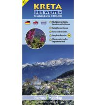 Wanderkarten Kreta Touristikkarte, Kreta - Der Westen 1:100.000 Harms IC