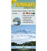 Wanderkarten Afrika Harms Tourist Map Kilimanjaro National Park 1:100.000 Harms IC