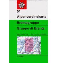 Wanderkarten Italien Alpenvereinskarte 51, Brentagruppe 1:25.000 Österreichischer Alpenverein