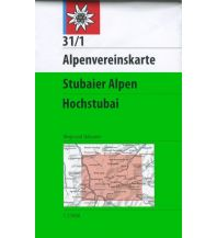 Skitourenkarten Alpenvereinskarte 31/1, Stubaier Alpen - Hochstubai 1:25.000 Österreichischer Alpenverein