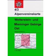 Wanderkarten Tirol Alpenvereinskarte 4/3, Wetterstein- und Mieminger Gebirge - Ost 1:25.000 Österreichischer Alpenverein