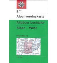 Wanderkarten Tirol Alpenvereinskarte 2/1, Allgäuer & Lechtaler Alpen - West 1:25.000 Österreichischer Alpenverein