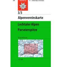 Wanderkarten Tirol Alpenvereinskarte 3/3, Lechtaler Alpen, Parseierspitze 1:25.000 Österreichischer Alpenverein