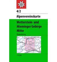 Wanderkarten Tirol Alpenvereinskarte 4/2, Wetterstein- und Mieminger Gebirge - Mitte 1:25.000 Österreichischer Alpenverein