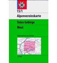 Skitourenkarten Alpenvereinskarte 15/1, Totes Gebirge - West 1:25.000 Österreichischer Alpenverein
