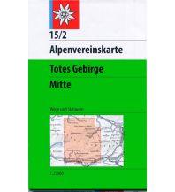 Skitourenkarten Alpenvereinskarte 15/2, Totes Gebirge - Mitte 1:25.000 Österreichischer Alpenverein