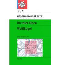 Skitourenkarten Alpenvereinskarte 30/2, Ötztaler Alpen - Weißkugel 1:25.000 Österreichischer Alpenverein