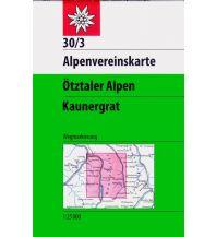 Wanderkarten Tirol Alpenvereinskarte 30/3, Ötztaler Alpen, Kaunergrat 1:25.000 Österreichischer Alpenverein