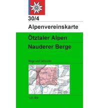Skitourenkarten Alpenvereinskarte 30/4, Ötztaler Alpen - Nauderer Berge 1:25.000 Österreichischer Alpenverein