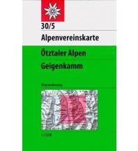 Wanderkarten Tirol Alpenvereinskarte 30/5, Ötztaler Alpen - Geigenkamm 1:25.000 Österreichischer Alpenverein