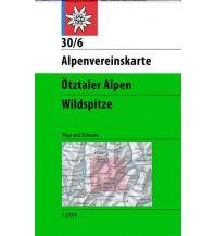 Skitourenkarten Alpenvereinskarte 30/6, Ötztaler Alpen - Wildspitze 1:25.000 Österreichischer Alpenverein