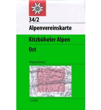 Wanderkarten Tirol Alpenvereinskarte 34/2, Kitzbüheler Alpen - Ost 1:50.000 Österreichischer Alpenverein