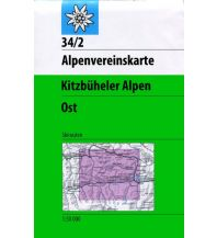 Skitourenkarten Alpenvereinskarte 34/2-Ski, Kitzbüheler Alpen - Ost 1:50.000 Österreichischer Alpenverein