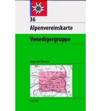 Skitourenkarten Alpenvereinskarte 36, Venedigergruppe 1:25.000 Österreichischer Alpenverein