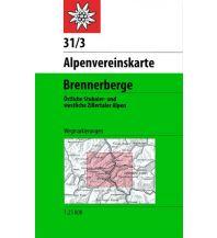 Wanderkarten Tirol Alpenvereinskarte 31/3, Brennerberge 1:50.000 Österreichischer Alpenverein
