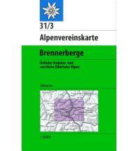 Skitourenkarten Alpenvereinskarte 31/3-Ski, Brennerberge 1:50.000 Österreichischer Alpenverein