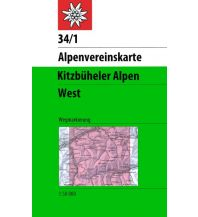 Wanderkarten Tirol Alpenvereinskarte 34/1, Kitzbüheler Alpen - West 1:50.000 Österreichischer Alpenverein