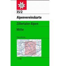 Wanderkarten Tirol Alpenvereinskarte 35/2, Zillertaler Alpen Mitte 1:25.000 Österreichischer Alpenverein