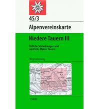 Wanderkarten Steiermark Alpenvereinskarte 45/3, Niedere Tauern 3 1:50.000 Österreichischer Alpenverein