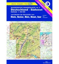 Kanusport Wassersport-Wanderkarte / Deutschland Südwest für Kanu- und Rudersport Jübermann