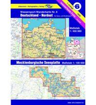Kanusport Wassersport-Wanderkarte 6, Deutschland Nordost 1:450.000 Jübermann