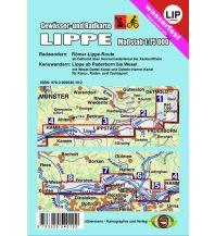 Kanusport Gewässer- und Radkarte Lippe Jübermann