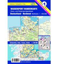 Kanusport Wassersport-Wanderkarte 1, Deutschland Nordwest 1:450.000 Jübermann