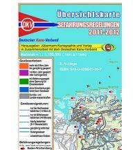 Kanusport Übersichtskarte Befahrungsregelungen Jübermann