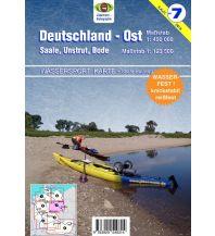 Kanusport Wassersport-Karte 7, Deutschland Ost 1:450.000 Jübermann