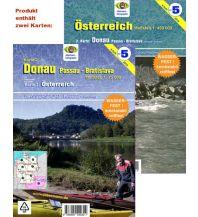 Kanusport Wassersport-Wanderkarte WW5 Österreich 1:450.000 / Donau 1:75.000 Jübermann